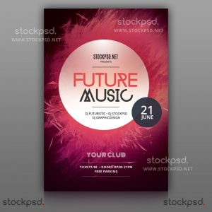 future-music-free-psd-flyer