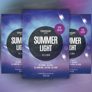 summer-light-free-psd-flyer
