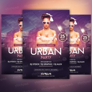 urban-party-free-psd-flyer