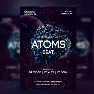 atoms-preview-free-psd-fllyer