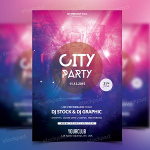 city-party-free-psd-flyer