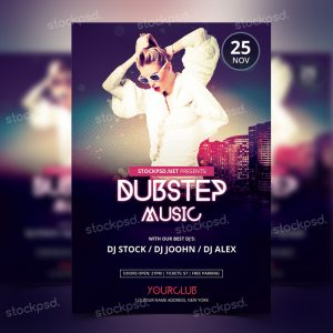 dubstep-music-free-psd-flyer