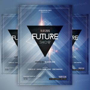 future-show-free-psd-flyer
