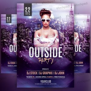 outside-party-free-psd-flyer
