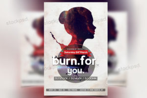 burn-for-you-free-psd-flyer