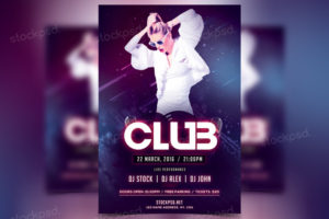 club-preview-stockpsd-free-flyer