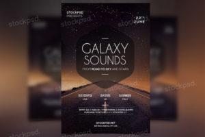 galaxy-sounds-free-psd-flyer