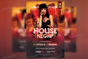 house-night-free-psd-flyer