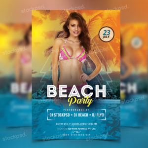 beach-party-free-psd-flyer