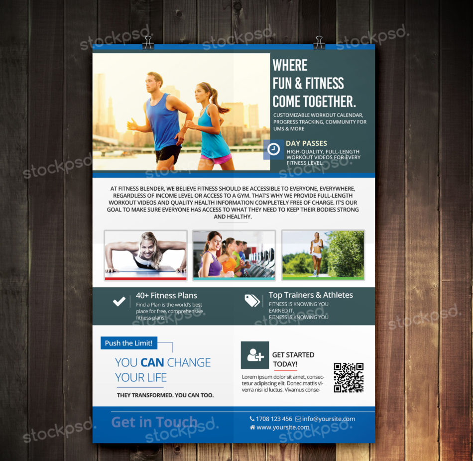 Free Fitness Gym Flyer Template Psd Files And Free Church: Fitness & Sport