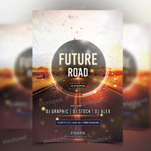 future-road-free-psd-flyer