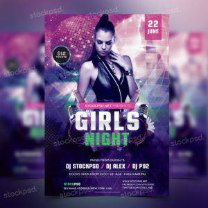 girls-night-free-psd-flyer-template