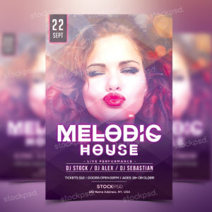 melodic-house---free-party-psd-flyer