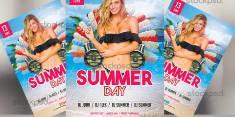 summer-day-free-psd-flyer