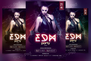 edm-party-freebie-psd-flyer