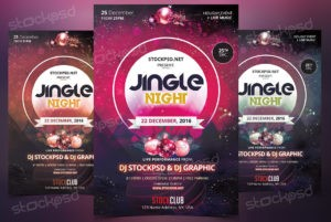jungle-night-free-psd-flyer-xmas-theme