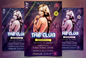 the-club-free-psd-flyer-template