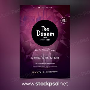 the-dream-free-psd-flyer-template