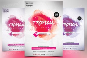 tropical-mixtape-free-psd-flyer