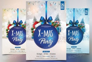 xmas-party-blue-free-psd-flyer
